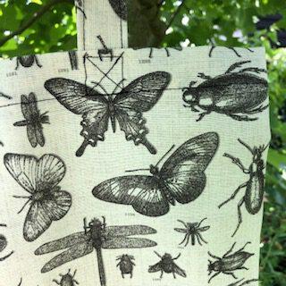 Tasje met insecten